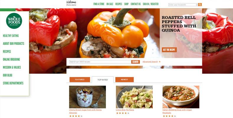 Recepty firmy Whole Foods market