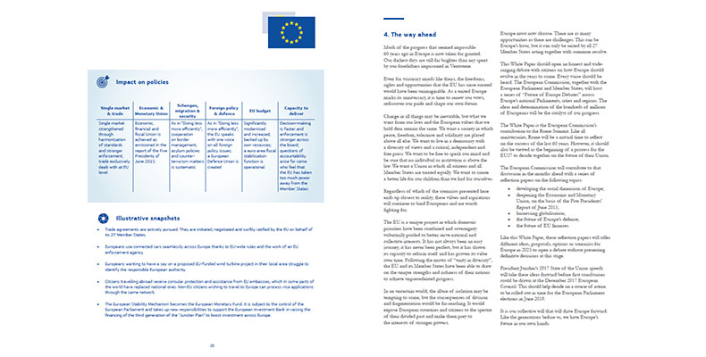 Screenshot bielej knihy snázvom FUTURE OF EUROPE (Budúcnosť Európy), ktorá je celkom aktuálna, nemyslíte? 😊