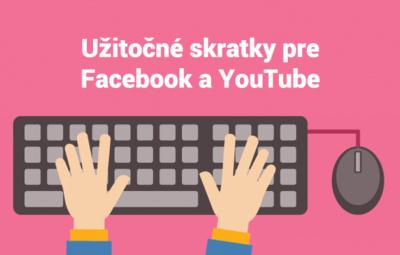 Klávesové skratky pre Facebook a Youtube.